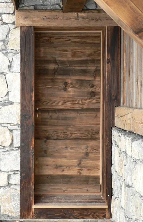 Artscop bois porte d 39 entr e habill e - Reparer une porte d entree en bois ...